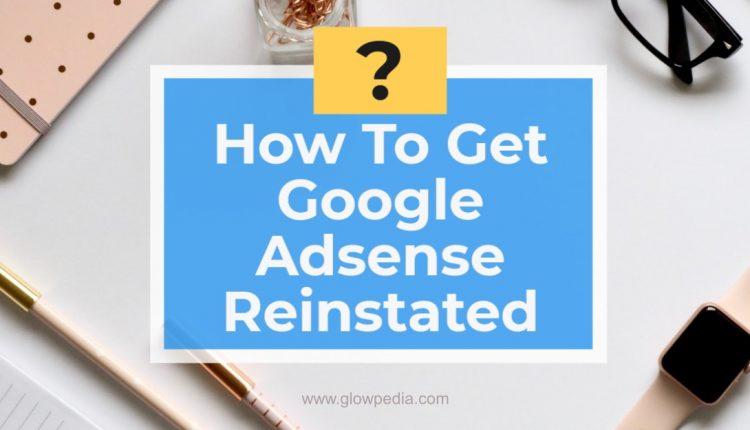 Reinstate Google Adsense