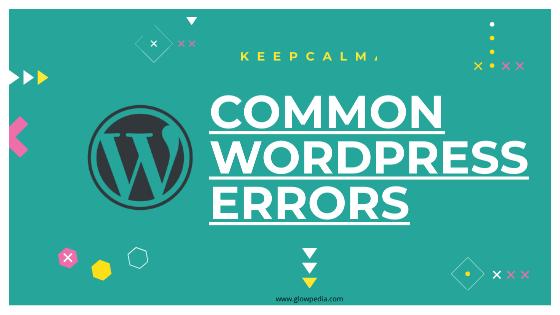 Solution To WordPress Error